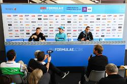 Sébastien Buemi, Renault e.Dams, Luca Filippi, NIO Formula E Team, Edoardo Mortara, Venturi Formula E Team, in the pre race press conference