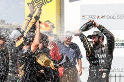 James Hinchcliffe, Schmidt Peterson Motorsports Honda, podio, champagne
