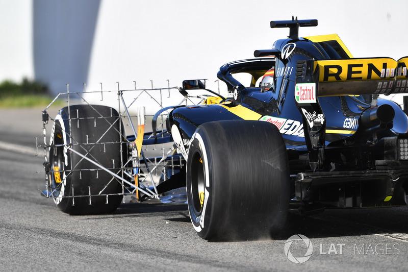 Carlos Sainz Jr., Renault Sport F1 Team R.S. 18, con sensori aerodinamici