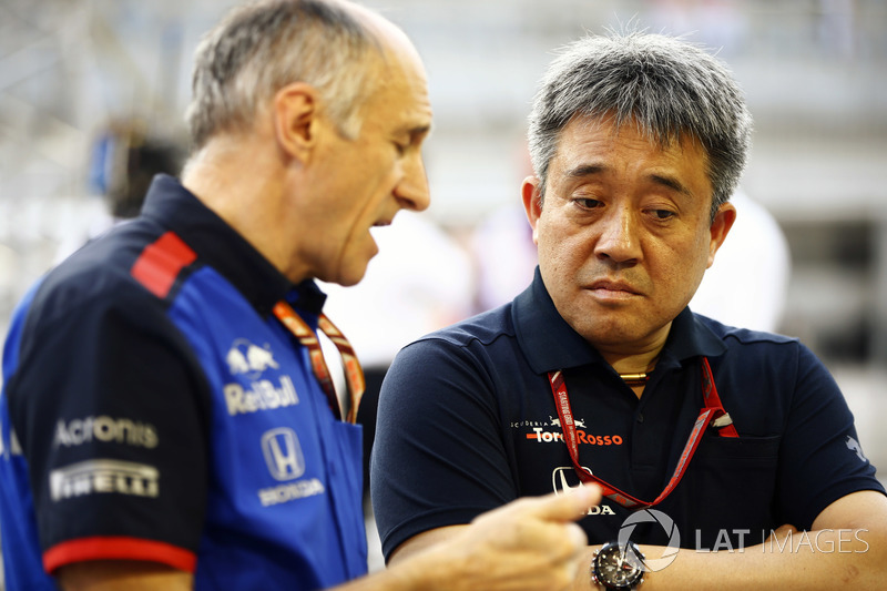 Franz Tost, Team Principal, Toro Rosso, Masashi Yamamoto, General Manager, Honda Motorsport