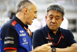 Franz Tost, Team Principal, Toro Rosso, and Masashi Yamamoto, General Manager, Honda Motorsport