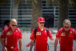 Kimi Raikkonen, Ferrari e il trainer Mark Arnall
