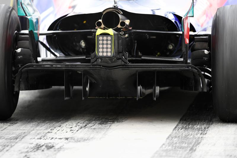 Detalle de la trasera del Scuderia Toro Rosso STR13