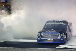 Brett Moffitt, Hattori Racing Enterprises, AISIN Atlanta Toyota Tundra celebrates