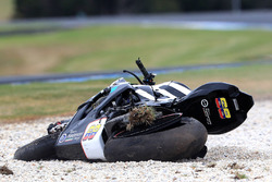Yonny Hernandez, Pedercini Racing's Bike after crash