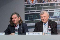 Giorgio Terruzzi, giornalista, con Ecole Colombo, fotografo Formula 1