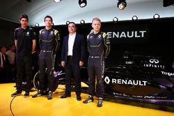 Esteban Ocon, Renault Sport F1 Team testrijder en Jolyon Palmer, Renault F1 Team