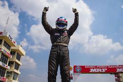 Race 4 winner Vikash Anand