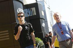 Jolyon Palmer, Renault Sport F1 Team avec son père Jonathan Palmer