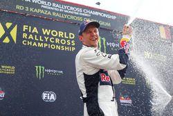 Podium: winner Mattias Ekström, EKS RX celebrates with champagne