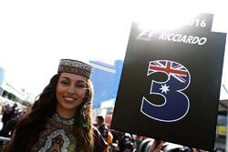 La Grid Girl de Daniel Ricciardo, Red Bull Racing