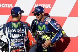 Polesitter Valentino Rossi, Yamaha Factory Racing, third place Jorge Lorenzo, Yamaha Factory Racing