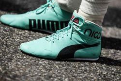 Racing boots of Nico Rosberg, Mercedes AMG F1