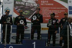Gara 1 podio Trofeo Cayman, Riccardo Pera (Ebimotors,Porsche Cayman GT4 CS #251), Piccioli-De Castro