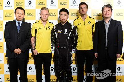 Annonce de Yueyang Sun à la Renault Sport Academy