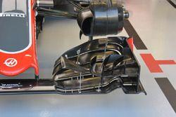 Haas F1 Team VF-16, detalle ala delantera
