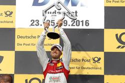 Podium: le vainqueur Edoardo Mortara Audi Sport Team Abt Sportsline, Audi RS 5 DTM
