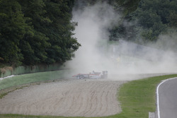 Crash: Maximilian Günther, Prema Powerteam Dallara F312, Mercedes-Benz