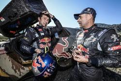 #104 Peugeot: Cyril Despres and #100 Peugeot: Stéphane Peterhansel