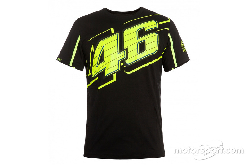 "T-shirt Valentino Rossi ""46"" 2016 noir"