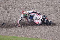 Choque de Danilo Petrucci, Pramac Racing