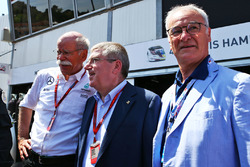 Dr. Dieter Zetsche, Daimler AG CEO with Thomas Bach, IOC President and Claudio Ranieri Leicester Cit