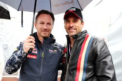 Christian Horner, Red Bull Racing Team Principal, and Patrick Dempsey, actor