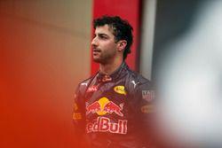 Daniel Ricciardo, Red Bull Racing, sur le podium après sa 2e place