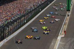 Départ : James Hinchcliffe, Schmidt Peterson Motorsports Honda mène
