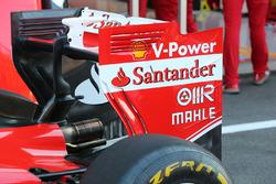 Ferrari SF16-H, el alerón trasero el sábado