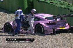 Screenshot Crash Lucas Auer, Mercedes-AMG Team Mücke, Mercedes-AMG C63 DTM