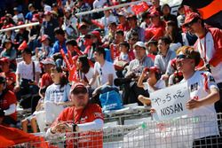 Nissan fans in the grandstand
