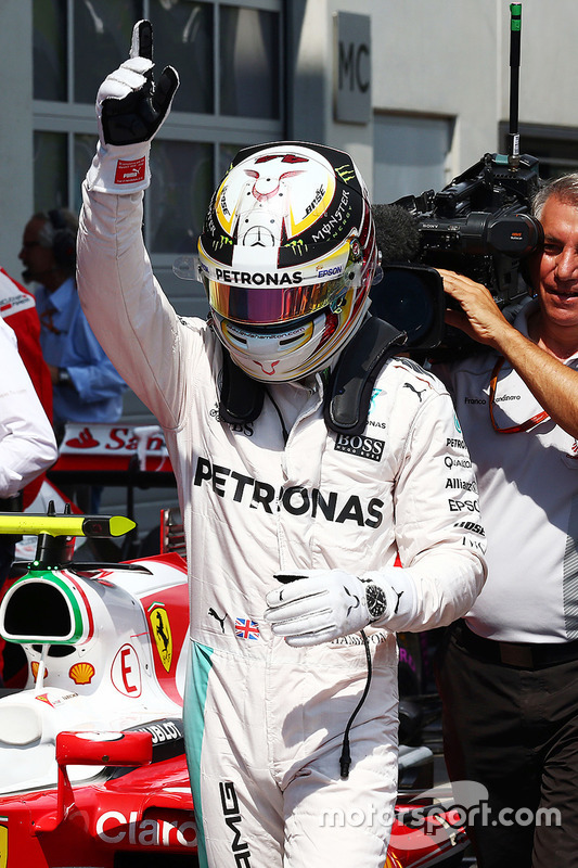Pole Position für  Lewis Hamilton, Mercedes AMG F1 Team