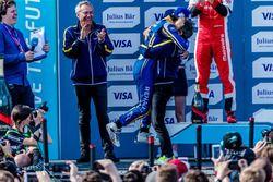Podium: Nicolas Prost, Renault e.Dams; Alain Prost, Renault e.Dams