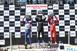 Podium: Scott Dixon, Chip Ganassi Racing, Chevrolet; Simon Pagenaud, Team Penske Chevrolet; Helio Ca
