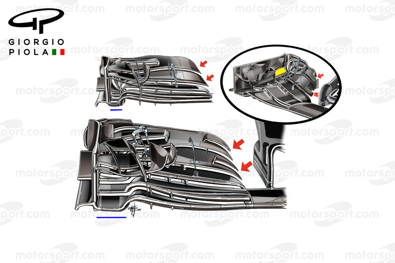 McLaren MP4-31: Frontflügel, Vergleich