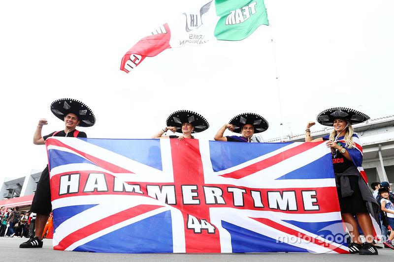 Fans mexicanos Lewis Hamilton, Mercedes AMG F1