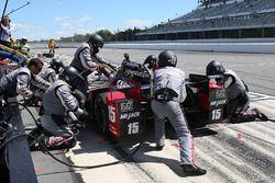 Graham Rahal, Rahal Letterman Lanigan Racing Honda, pit action
