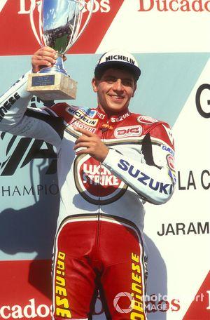 Podium: race winner Alex Barros, Suzuki