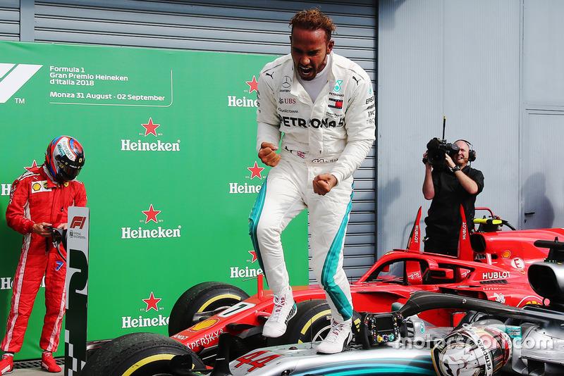 Lewis Hamilton (2012, 2014, 2015, 2017 e 2018) são os maiores vencedores do GP da Itália, com cinco triunfos cada um.