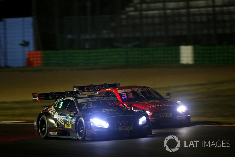 Даниэль Хункаделья, HWA Team, Mercedes-AMG C63 DTM, и Рене Раст, Audi Sport Team Rosberg, Audi RS5 DTM