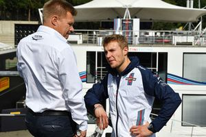 Mika Salo y Sergey Sirotkin, Williams Racing