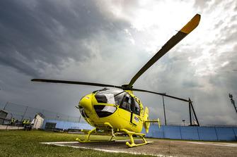 Un hélicoptère ambulance