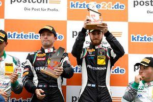 Podium: Race winners #19 GRT Grasser Racing Team Lamborghini Huracán GT3: Ezequiel Perez Companc, Franck Perera