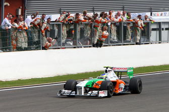 Giancarlo Fisichella, Force India F1 VJM02 finishes in 2nd place