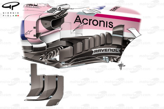 Nuove barge board Force India