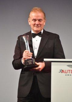 Jonathan Palmer voor de uitreiking van de Gregor Grant Award aan Dick Bennetts