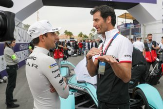 Mitch Evans, Jaguar Racing, Jaguar I-Type 4 talks to Mark Webber,Tag Heuer Porsche Ambassador