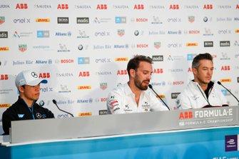 Nyck De Vries, Mercedes Benz EQ, Jean-Eric Vergne, DS Techeetah, Andre Lotterer, Porsche in the press conference