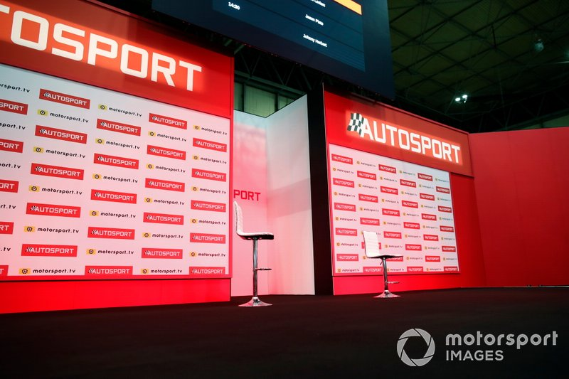 The Autosport stage ready for the next event